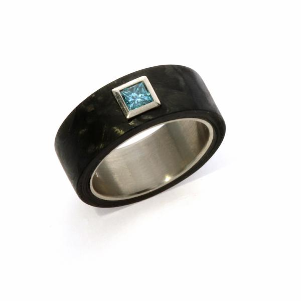 Goldschmiede mojo design verlobungsring carbon weissgold - Verlobungsring blau ...
